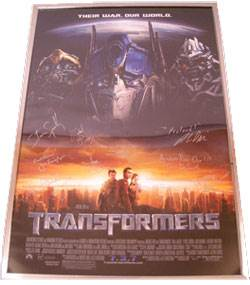 Real-Life Transformers Heroes Put One-of-A-Kind Autographed Movie Poster Up For Auction To Transform Lives of Seriously Ill Children