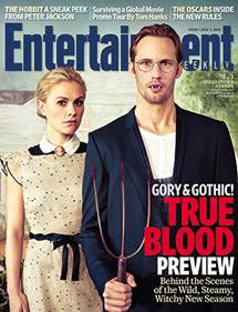 Alexander Skarsgård and Anna Paquin are Gothic on Cover of