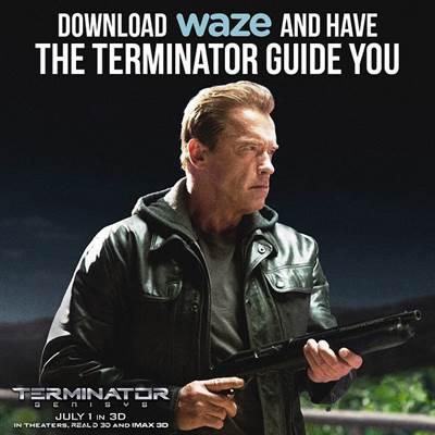 The Terminator Takes Over Waze Navigation