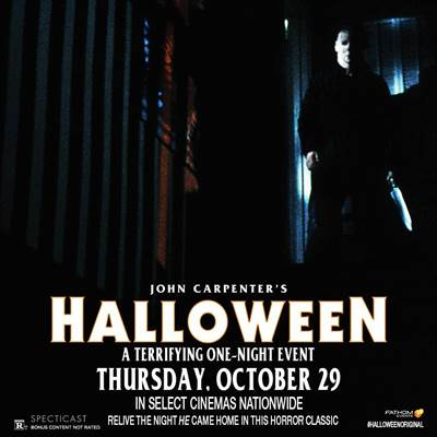 Fathom Events Brings The Horror Classic, Halloween, Back Into Theaters for One Night
