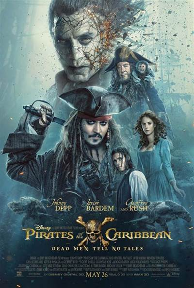 Win Complimentary Passes for two to a 3D Advance Screening of Disney's Pirates of The Caribbean: Dead Men Tell No Tales