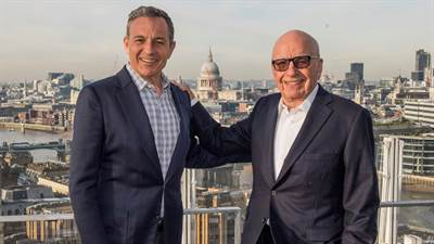 Disney to Acquire 21st Century Fox Assets for $52.4 Billion
