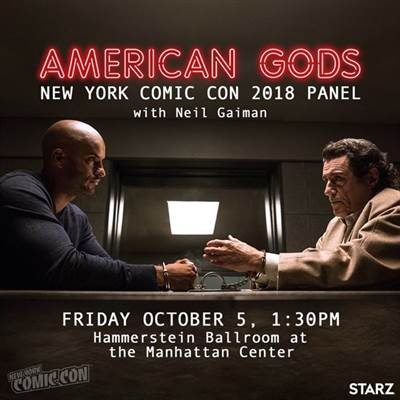 American Gods to Make Appearance at New York Comic Con