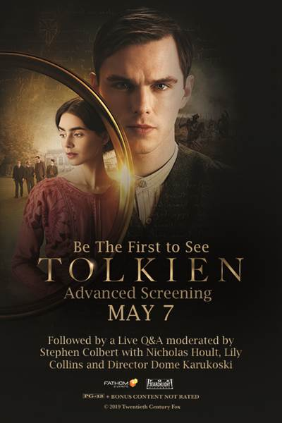 Tolkien Premieres as a One-Night LIVE Cinema Event on May 7