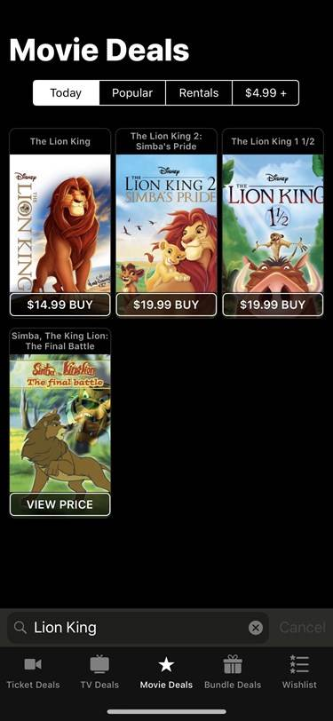 Disney Puts Their Top Selling Catalog on Sale for a Limited Time