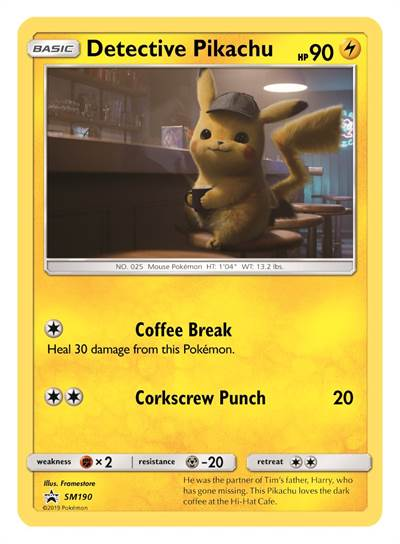 POKÉMON Detective Pikachu Trading Card Event to Take Place Opening Weekend