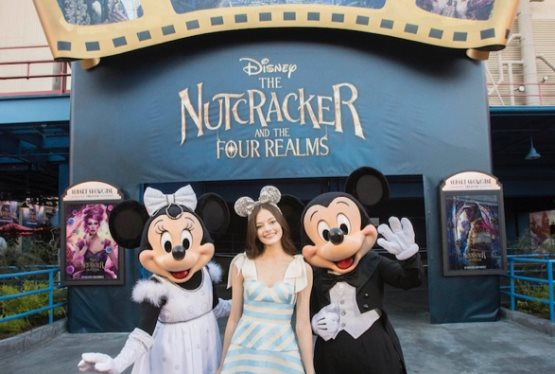 """Nutcracker and the Four Realms"" Star Mackenzie Foy Makes Surprise Appearance at Disneyland Resort"