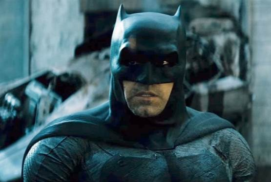 Ben Affleck Hanging Up Batman Cowl