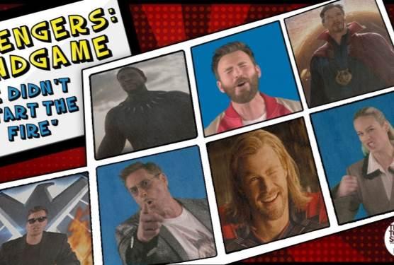 Avengers: Endgame Cast Sings We Didn't Start the Fire