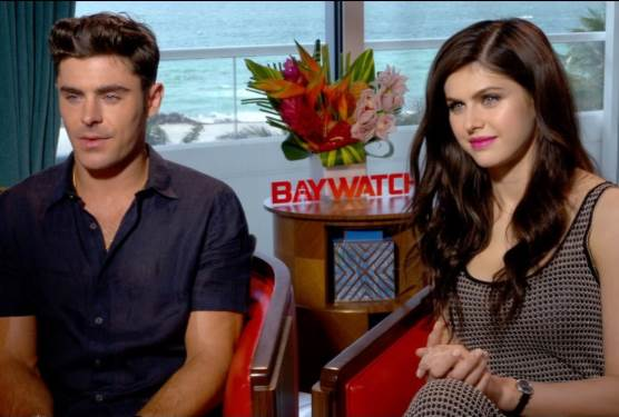 BAYWATCH EXCLUSIVE: Zac Efron and Alexandra Daddario