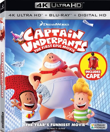 Captain Underpants: The First Epic Movie 4K Ultra HD Review