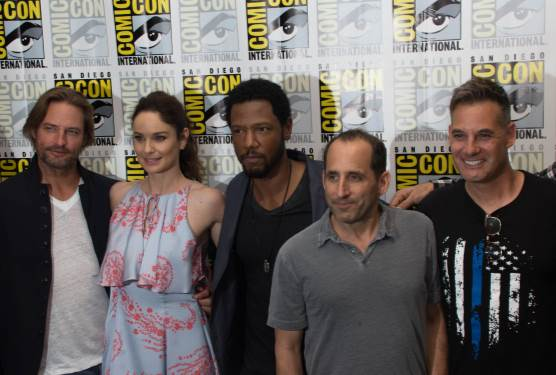 Check Out the Crazy on Camera Antics With The Cast of Colony As They Discuss Season Two