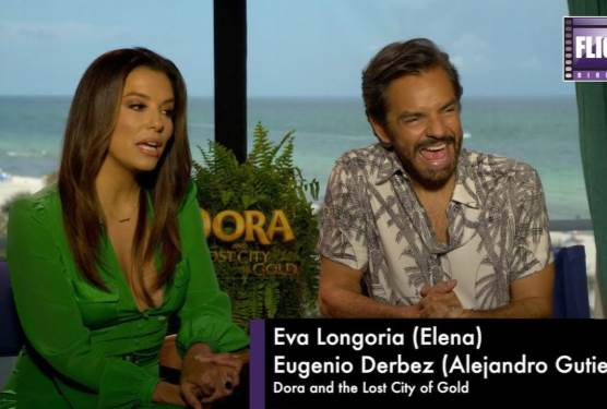 Eva Longoria and Eugenio Derbez Talk Dora and The Lost City of Gold