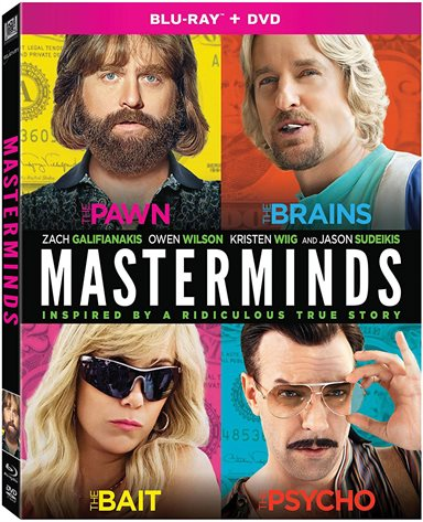 Masterminds Blu-ray Review