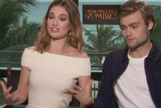Cast Interview With Lily James, Matt Smith, and Douglas Booth