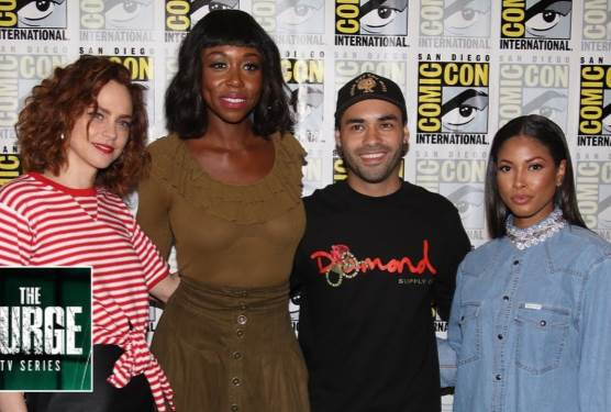 The Purge TV Series Cast With Lex Scott Davis - Comic Con 2018