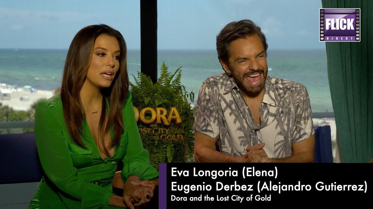 Dora And The Lost City of Gold Eva Longoria and Eugenio